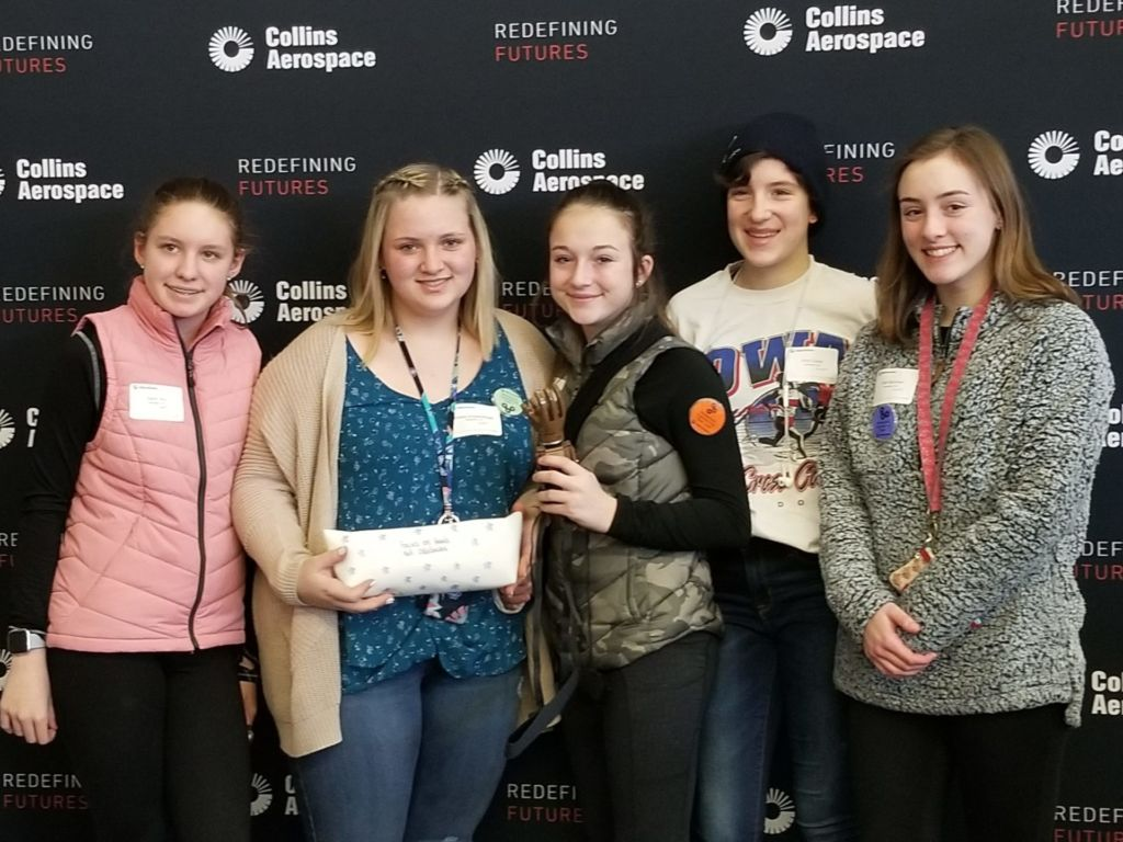 Introduce a Girl to Engineering Day at Collins Aerospace