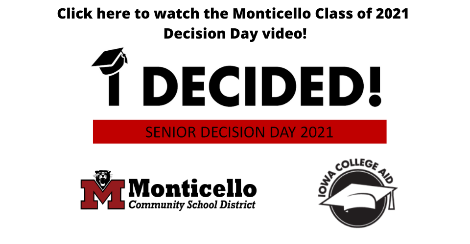 Monticello Class of 2021 Decision Day video!