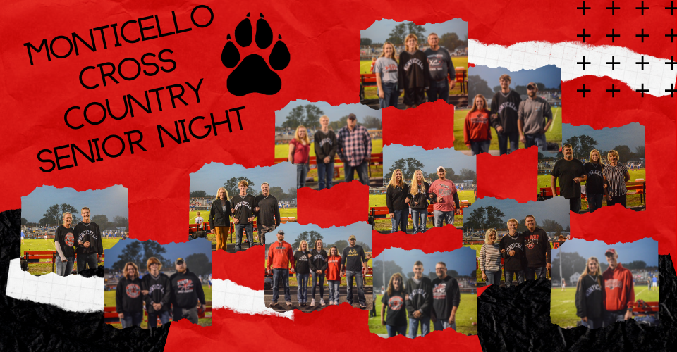 Monticello Panthers Cross Country Senior Night!