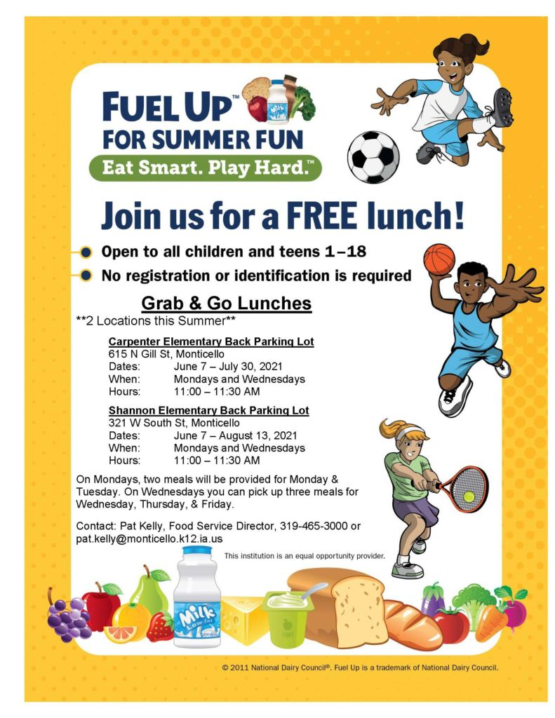 Free Meals this Summer!