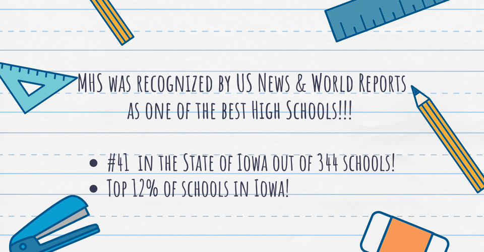 MHS was recognized by US News & World Reports as one of the best High Schools in the state!