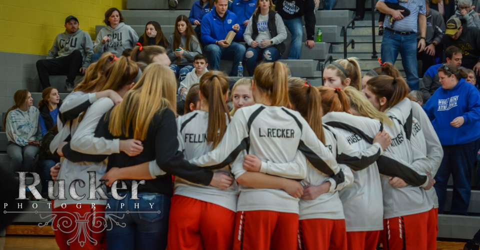 Girls Basketball Huddle