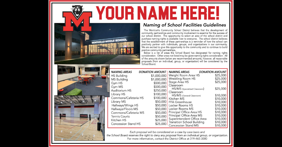 Naming School Facilities